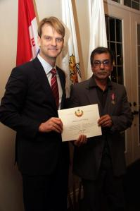 Robin Maharaj with Chris Alexander Diamond Jubilee celebration